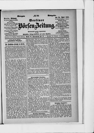 Berliner Börsen-Zeitung vom 24.04.1889