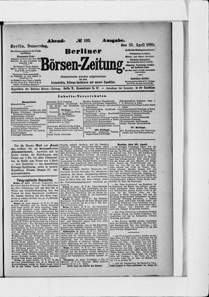 Berliner Börsen-Zeitung vom 25.04.1889