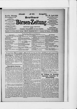 Berliner Börsen-Zeitung vom 30.04.1889