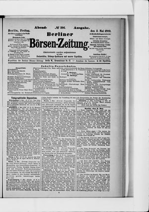 Berliner Börsen-Zeitung vom 03.05.1889