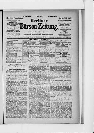 Berliner Börsen-Zeitung vom 04.05.1889