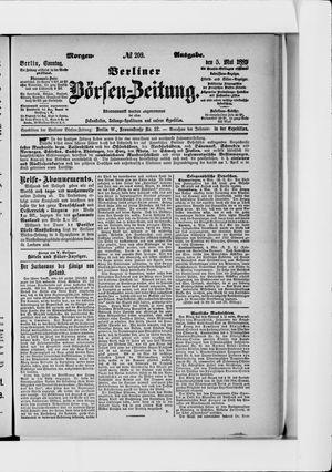 Berliner Börsen-Zeitung vom 05.05.1889