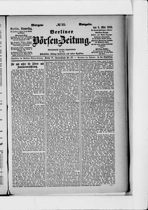 Berliner Börsen-Zeitung vom 09.05.1889