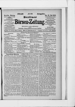 Berliner Börsen-Zeitung vom 13.05.1889