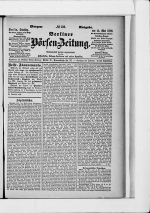 Berliner Börsen-Zeitung vom 14.05.1889