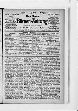 Berliner Börsen-Zeitung vom 16.05.1889