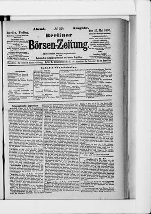 Berliner Börsen-Zeitung vom 17.05.1889