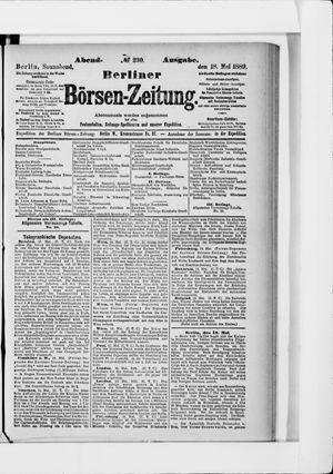 Berliner Börsen-Zeitung vom 18.05.1889