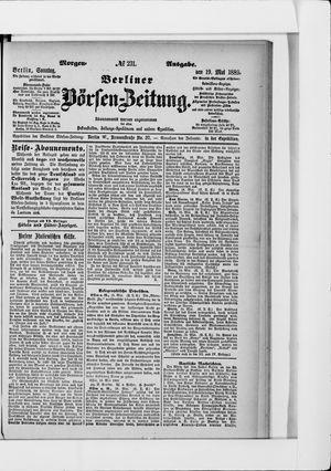 Berliner Börsen-Zeitung vom 19.05.1889
