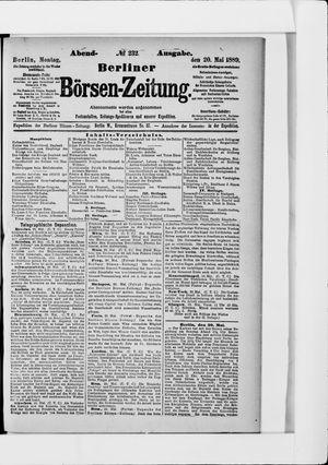Berliner Börsen-Zeitung vom 20.05.1889