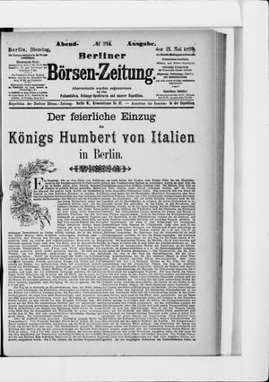Berliner Börsen-Zeitung vom 21.05.1889