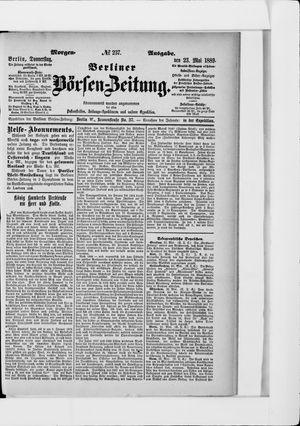 Berliner Börsen-Zeitung vom 22.05.1889