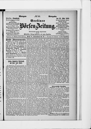 Berliner Börsen-Zeitung vom 25.05.1889