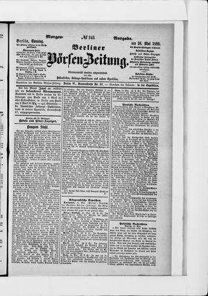 Berliner Börsen-Zeitung vom 26.05.1889