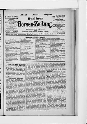 Berliner Börsen-Zeitung vom 27.05.1889
