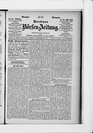Berliner Börsen-Zeitung vom 29.05.1889