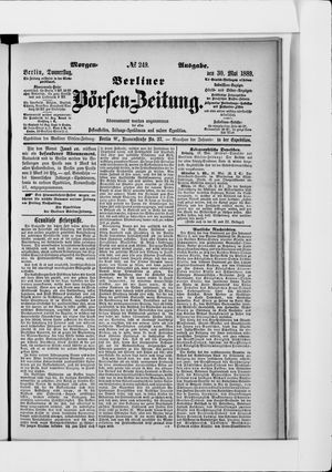 Berliner Börsen-Zeitung vom 30.05.1889