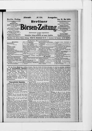 Berliner Börsen-Zeitung on May 31, 1889