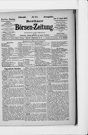 Berliner Börsen-Zeitung vom 03.06.1889