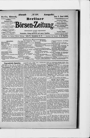 Berliner Börsen-Zeitung vom 05.06.1889