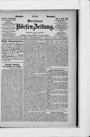 Berliner Börsen-Zeitung vom 06.06.1889