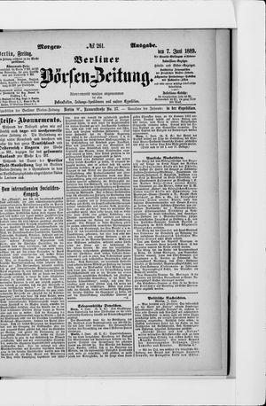 Berliner Börsen-Zeitung vom 07.06.1889