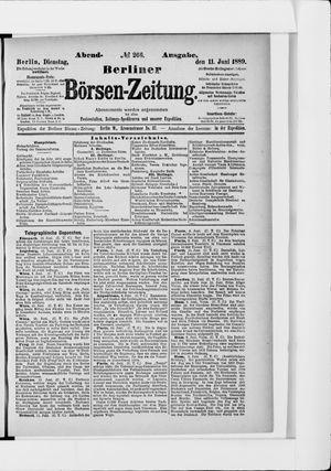 Berliner Börsen-Zeitung vom 11.06.1889