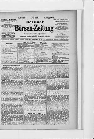 Berliner Börsen-Zeitung vom 12.06.1889