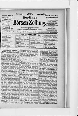 Berliner Börsen-Zeitung vom 14.06.1889