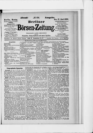 Berliner Börsen-Zeitung vom 17.06.1889