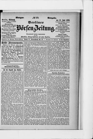 Berliner Börsen-Zeitung vom 19.06.1889