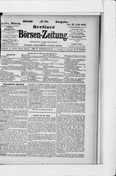 Berliner Börsenzeitung (19.06.1889)
