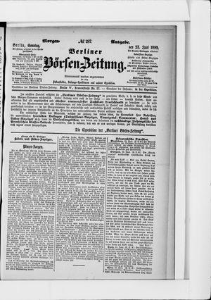 Berliner Börsen-Zeitung vom 23.06.1889