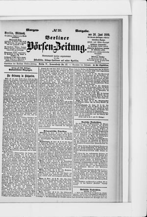 Berliner Börsen-Zeitung vom 26.06.1889