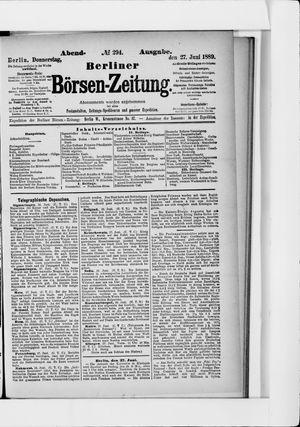 Berliner Börsen-Zeitung vom 27.06.1889