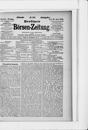 Berliner Börsen-Zeitung vom 28.06.1889