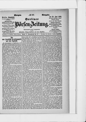 Berliner Börsen-Zeitung vom 29.06.1889