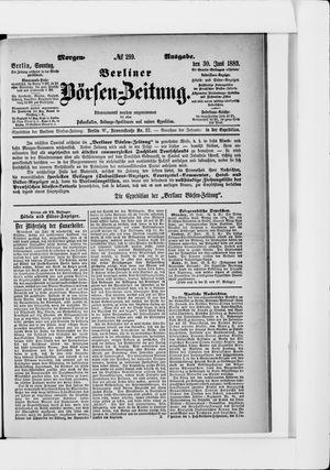 Berliner Börsen-Zeitung on Jun 30, 1889