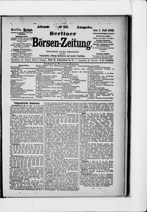 Berliner Börsen-Zeitung vom 01.07.1889