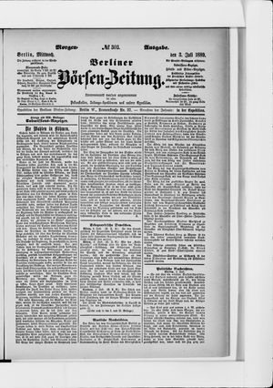 Berliner Börsen-Zeitung vom 03.07.1889