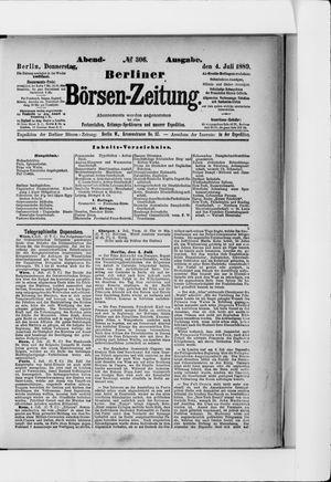Berliner Börsen-Zeitung vom 04.07.1889