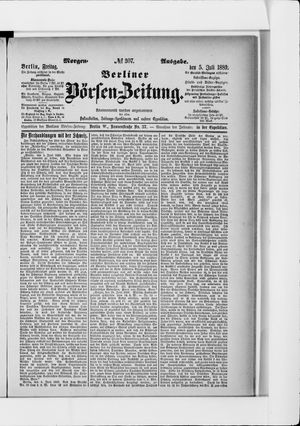 Berliner Börsen-Zeitung vom 05.07.1889