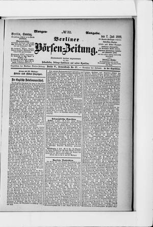 Berliner Börsen-Zeitung vom 07.07.1889