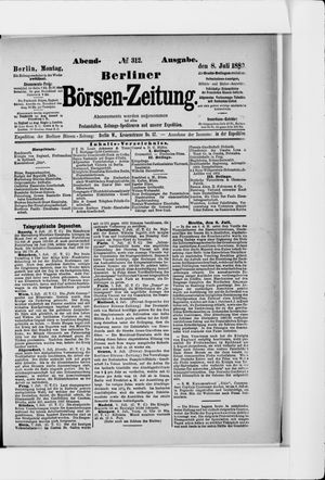 Berliner Börsen-Zeitung vom 08.07.1889