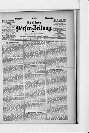 Berliner Börsen-Zeitung vom 09.07.1889