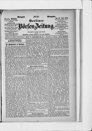 Berliner Börsen-Zeitung vom 10.07.1889