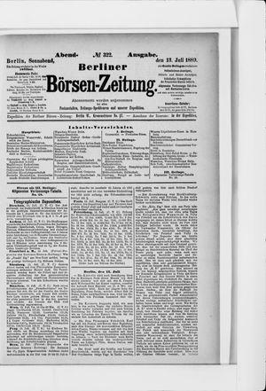 Berliner Börsen-Zeitung vom 13.07.1889