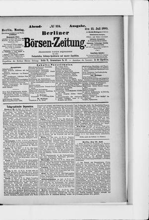 Berliner Börsen-Zeitung vom 15.07.1889