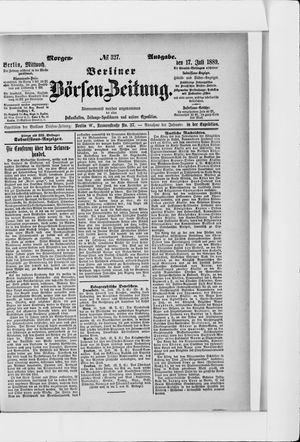 Berliner Börsen-Zeitung vom 17.07.1889