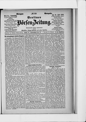 Berliner Börsen-Zeitung vom 18.07.1889